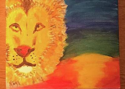 Painting - Lion By Sharday by Anne-elizabeth Whiteway
