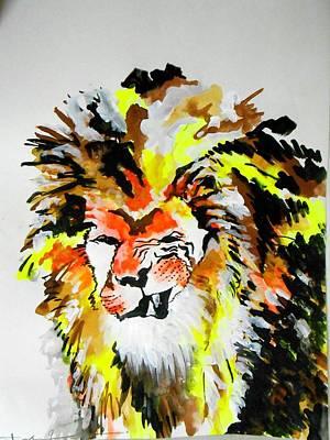 Lion  Art Print by Charushree Amar