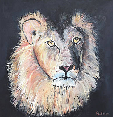 Painting - Lion by Christine Lathrop