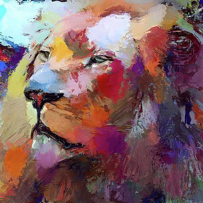 House Pet Digital Art - Lion Color Burst by Yury Malkov