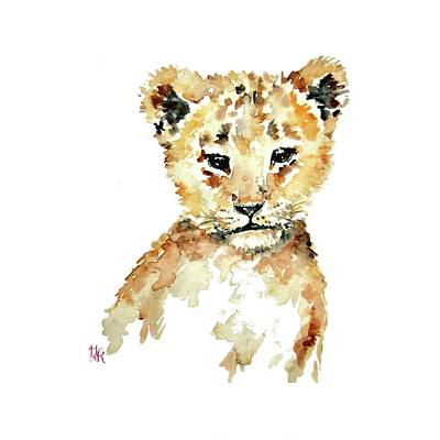 Painting - Lion Cub Nursery Wall Art by Heidi Kriel