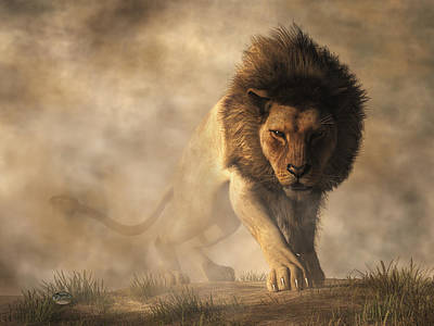 Digital Art - Lion by Daniel Eskridge