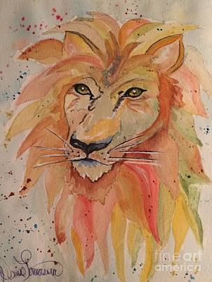 Painting - Lion by Denise Tomasura