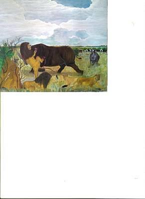 Lion Dethroned Original by Emmanuel Nwogbo