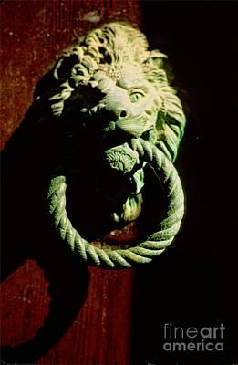 Lion Door Knocker In Venice Art Print by Michael Henderson