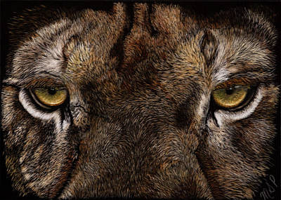 Painting - Lion Eye's by Margaret Sarah Pardy