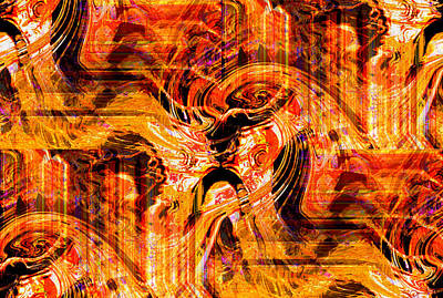 Faith Hope And Love Digital Art - Lion Faces Vision 1 by Abstract Angel Artist Stephen K