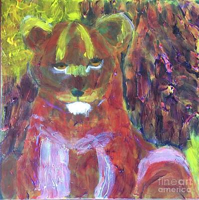 Painting - Lion Family Part 5 by Donald J Ryker III