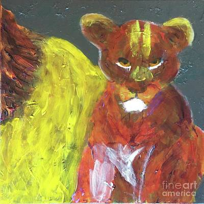 Painting - Lion Family Part 6 by Donald J Ryker III
