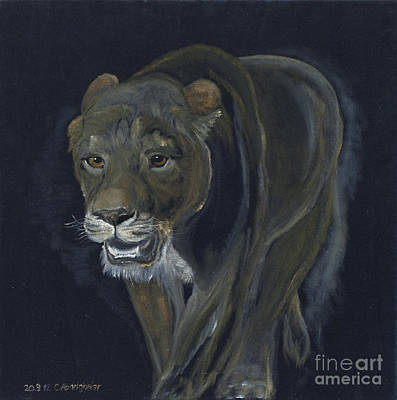 Lion Female Original by Claudia Luethi alias Abdelghafar