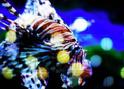 Classical Masterpiece Still Life Paintings - Lion Fish 3. Glass. by Igor Malinovskii
