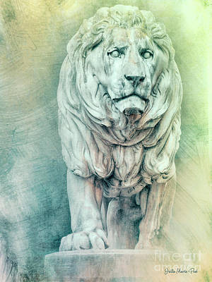 Photograph - Lion For Eternity by Jutta Maria Pusl