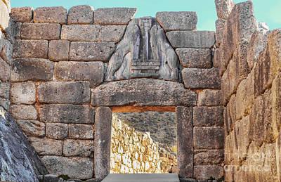 Photograph - Lion Gate In Ancient Greek Ruins At Mycenae by Susan Vineyard