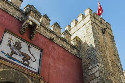 Muneca Photograph - Lion Gate Main Entry - Alcazar Of Seville - Seville Spain by Jon Berghoff