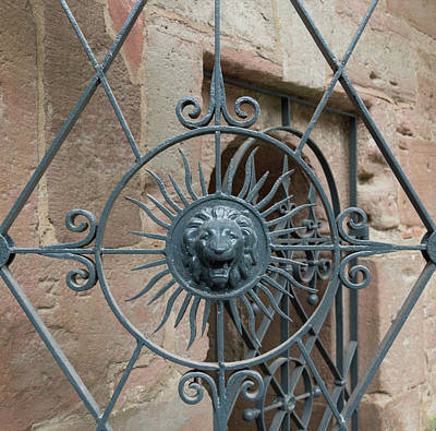 Grate Photograph - Lion Gate Medallion by Teresa Mucha