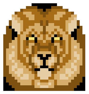 Digital Art - Lion by Gerald Lynch