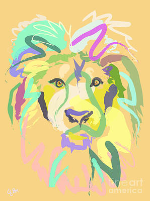 Painting - Lion by Go Van Kampen