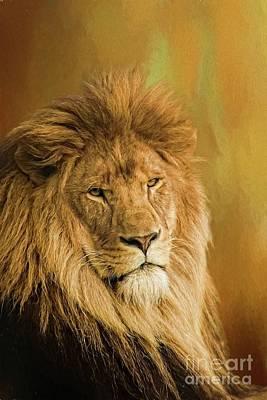 Digital Art - Lion Golds by Suzanne Handel