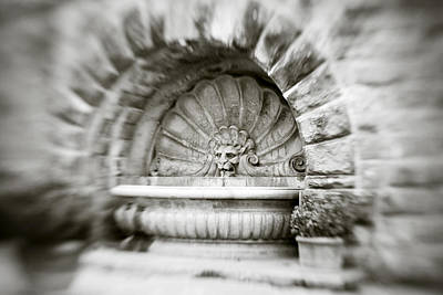 Photograph - Lion Head Fountain by Marilyn Hunt
