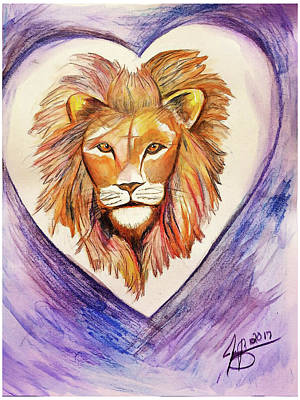 Painting - Lion Heart by Jennifer Page
