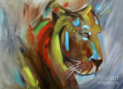 Painting - Lion Heart by Jenny Lee