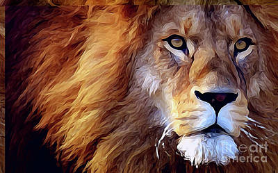 Lion-hearted Art Print