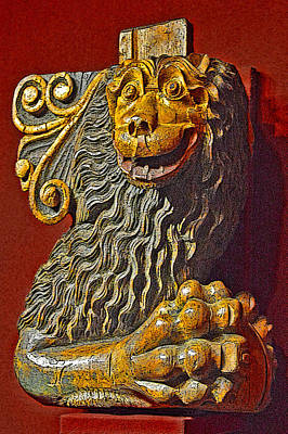 Russian Icon Digital Art - Lion Holding A Ball. by Andy Za