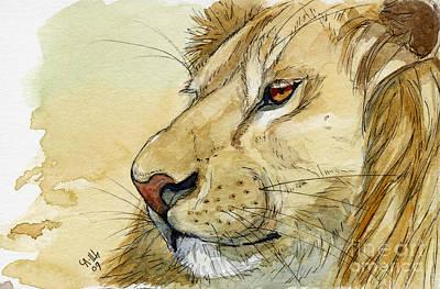 Lion Inspiration  Art Print by Svetlana Ledneva-Schukina