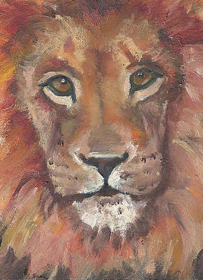 Painting - Lion by Jessmyne Stephenson