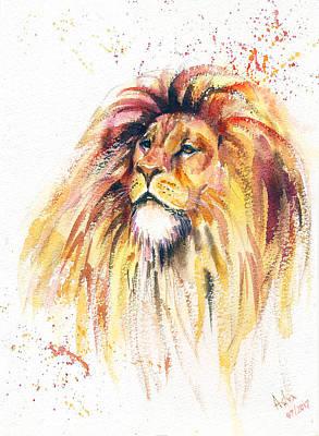 Painting - Lion King 2 by Asha Sudhaker Shenoy