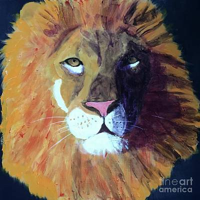 Painting - Lion King by Donald J Ryker III