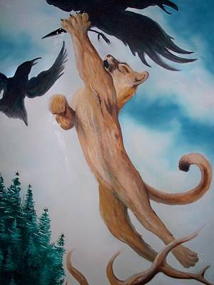 Painting - Lion King by Patrick Trotter