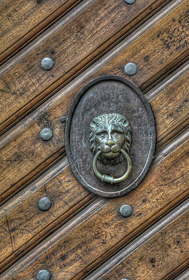 Photograph - Lion Knocker by Michael Kirk