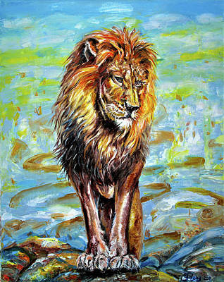 Painting - Lion Leader by Yelena Rubin