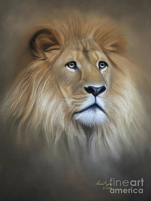 Digital Art - Lion by Lena Auxier