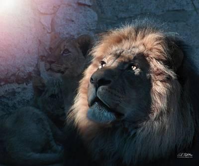 Lion Light Art Print by Bill Stephens