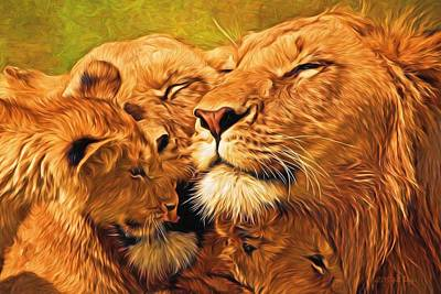 Lion Love #2 Original by Will Barger