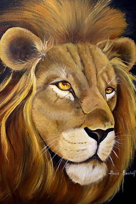 Lion Male Art Print by Ansie Boshoff