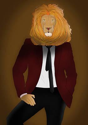 Cool Lion Digital Art - Lion Man by Isai Rodriguez