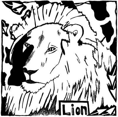 Lion Maze Art Print by Yonatan Frimer Maze Artist
