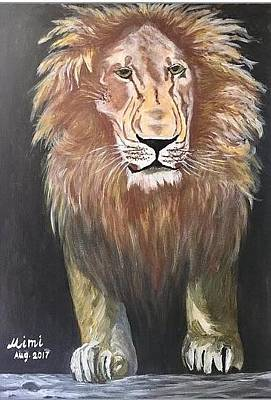 Drawing - Lion by Mimi Eskenazi