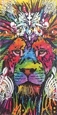 Mixed Media - Lion Modified Print by Dean Russo