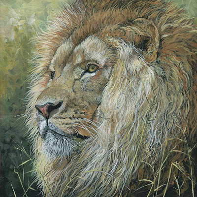 Painting - Lion by Nadi Spencer