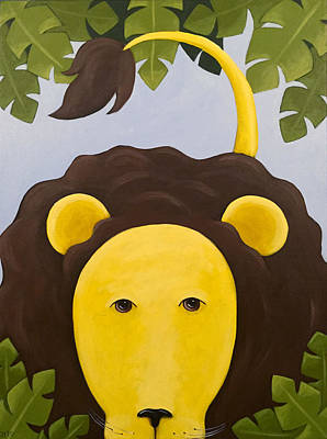 Painting - Lion Nursery Art by Christy Beckwith