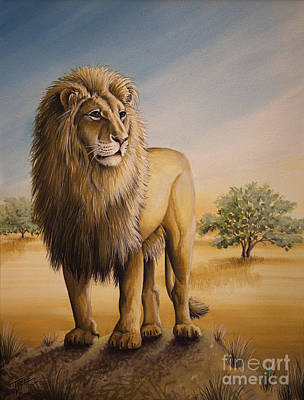 Painting - Lion Of Africa by Tish Wynne