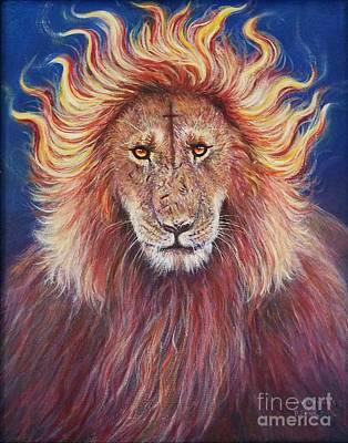 Wall Art - Painting - Lion Of Judah by Debra Link