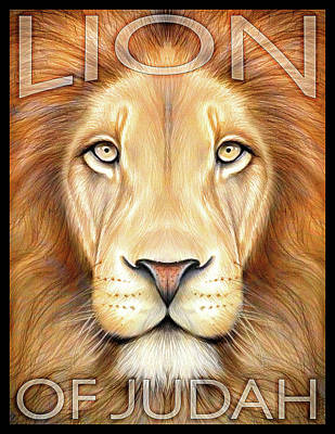 Animals Drawings - Lion of Judah by Greg Joens