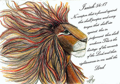 Lion Of Judah Original by Jan Nosakowski