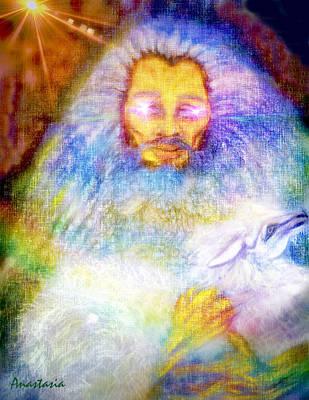 Pastel - Lion Of Judah Lamb Of God 3 by Anastasia Savage Ealy