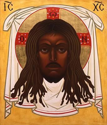 Saint John Coltrane. Black Christ Religion Painting - Lion Of Judah by Mark Dukes